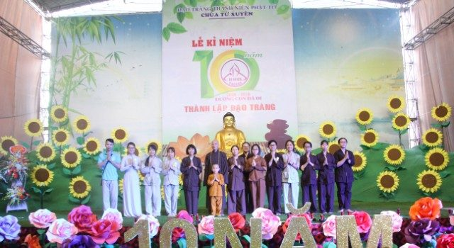 Đạo tràng Thanh niên Phật tử chùa Từ Xuyên tròn 10 tuổi